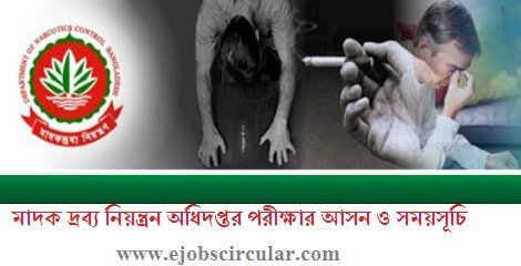 Department of Narcotics Control Job Circular Exam Routine