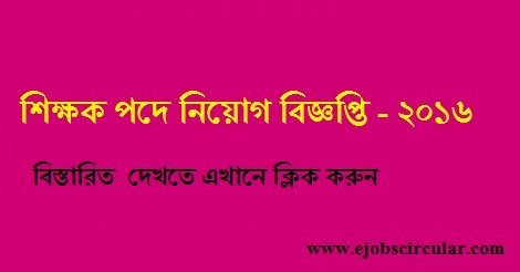 Chowdhury Hat B Zaman High School Job Circular 2016