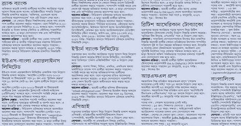 Friday Non Govt Job Circular