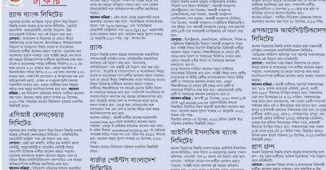 latest Non Govt job circular in December 2016 – Collect by Jugantor