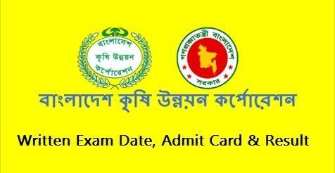 badc gov bd written exam