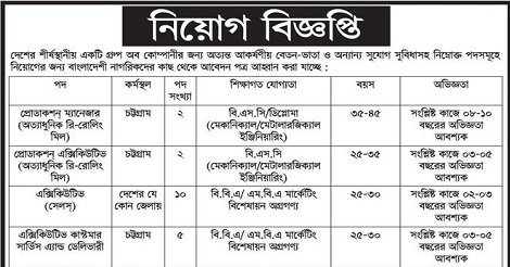 Career Opportunity Azadi Company Job Circular