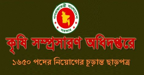 Ministry of Agriculture MOA Govt Job Circular 2017- Upcoming jobs