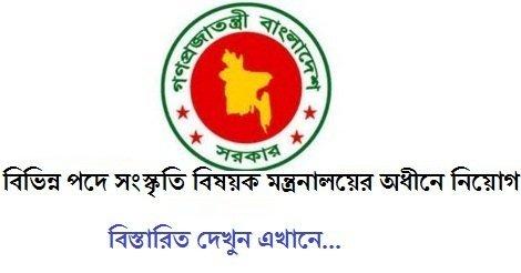 Ministry of Cultural Affairs MOCA Job Circular – www.moca.gov.bd