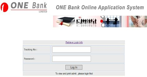 One Bank Job circular 2020