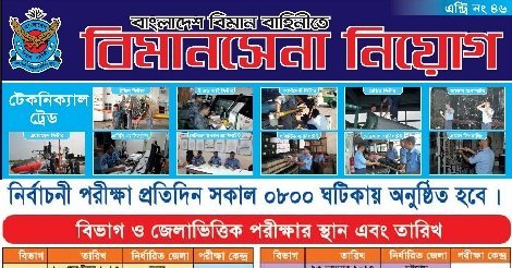 Bangladesh Air Force Job Circular In August