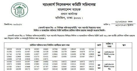 Sonali Bank Ltd job Result – www.sonalibank.com.bd