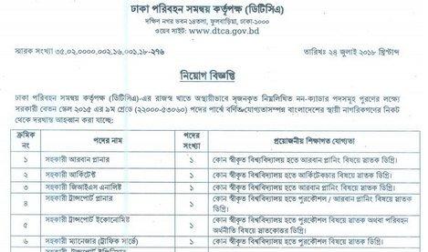 dtca job circular bd