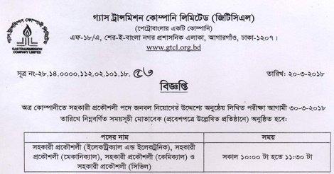 GTCL Teletalk Admit Card & Seat Plan 2018 – gtcl.teletalk.com.bd