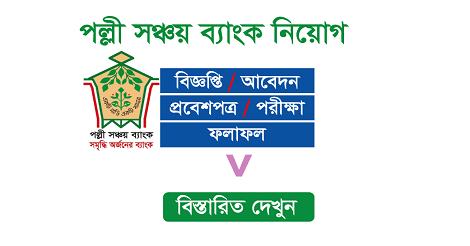 Palli Sanchay Bank PSB Admit Card & Seat Plan – psb.teletalk.com.bd