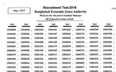 BEZA job result