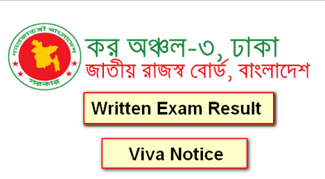 Taxes Zone-3 Dhaka Exam Result 2019
