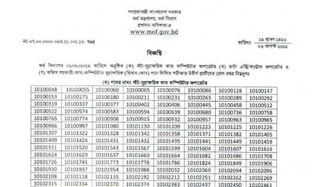 Ministry of Finance Job Result