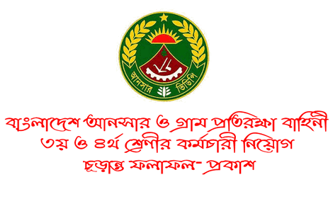 ansarvdp.gov.bd final Result