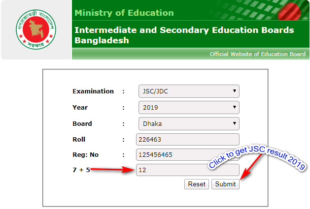 jsc result educationboardresults