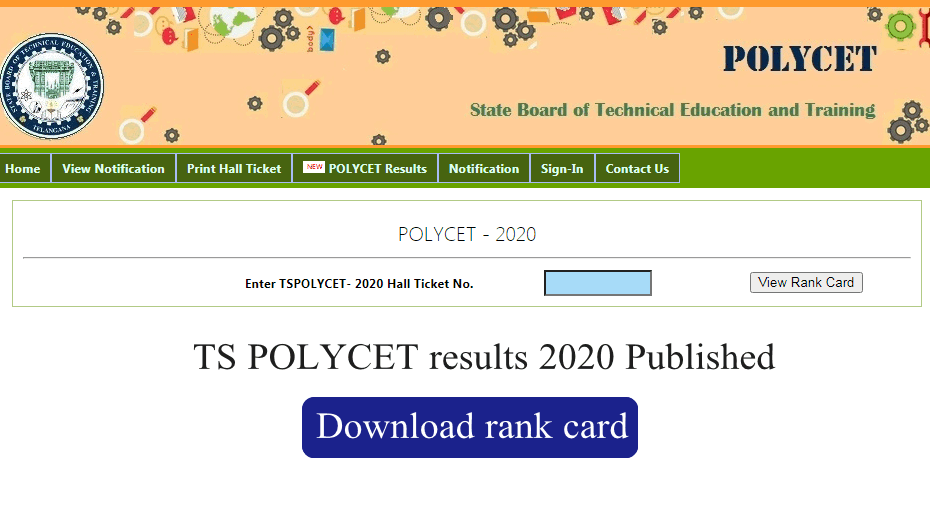 TS POLYCET results 2020 published