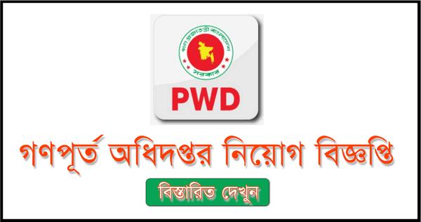 Public Works Department job